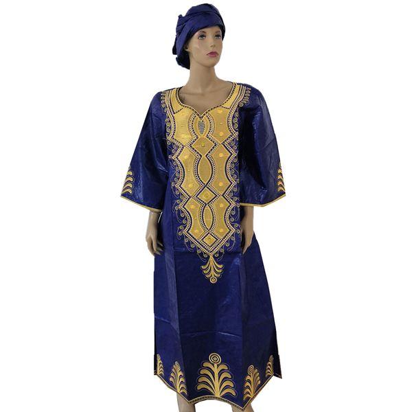 MD vestidos africanos para as mulheres 2019 nova áfrica dashiki plus size vestido africano da áfrica do sul roupas da senhora com a cabeça envoltórios