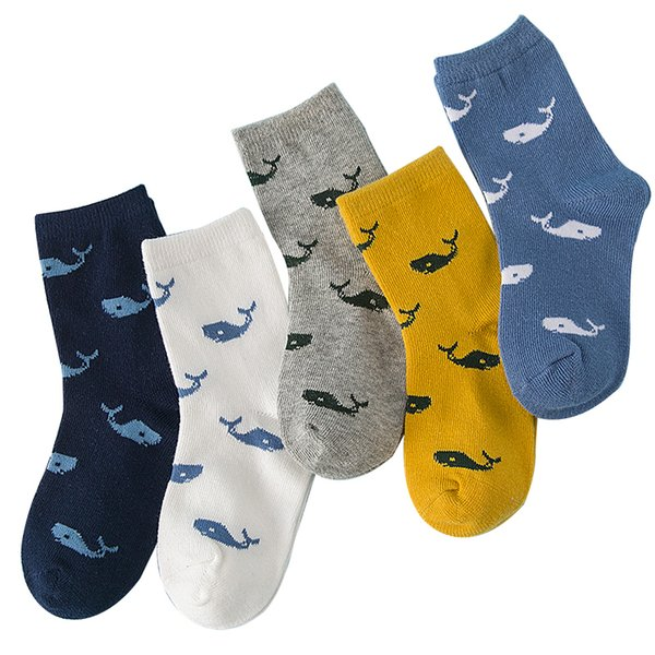 35076P 5 Pair/lot New Soft Cotton Boys Girls Socks Cute Cartoon Pattern Kids Socks For Baby Boy Girl 7 Kinds Style Suitable