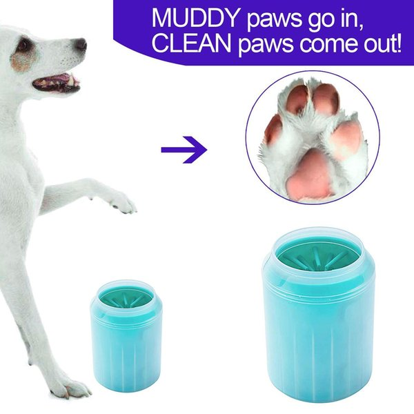 Pet Dog Paw Washer Cats Dogs Foot Clean Cup For Dogs Cats Cleaning Tool Soft Plastic Washing Brush Pet Accessories for Dog