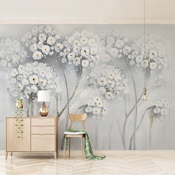 Custom Any Size Murals Wallpaper 3D Floral Oil Painting Photo Wall Painting Living Room Bedroom Home Decor Papel De Parede 3 D