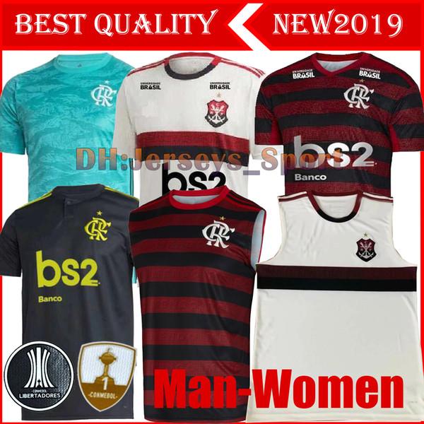 19 20 flamengo uomo donna polo jersey 2019 2020 fiammingo GUERRERO DIEGO VINICIUS JR Maglie calcio Brasile Flamengo maglia da calcio sportiva