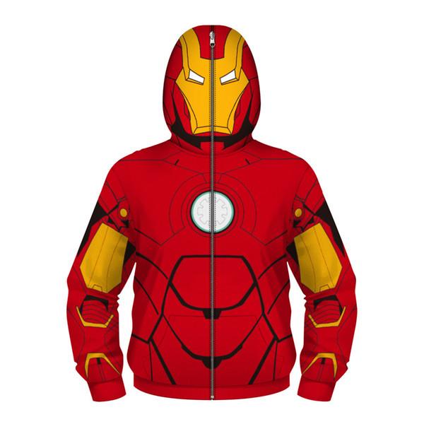Enfants Marvel Film Spiderman 3D Print Avengers 3 Guerre Infinie Cos Collection Superhero à capuche ZIP Enfants Garçon Fille Sweat à capuche