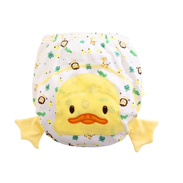 Newborn Diapers Animal Cartoon Ruffle Panties Baby Briefs Diaper Cover Pants Cloth Diapers Baby Washable Reusable Nappies Cotton