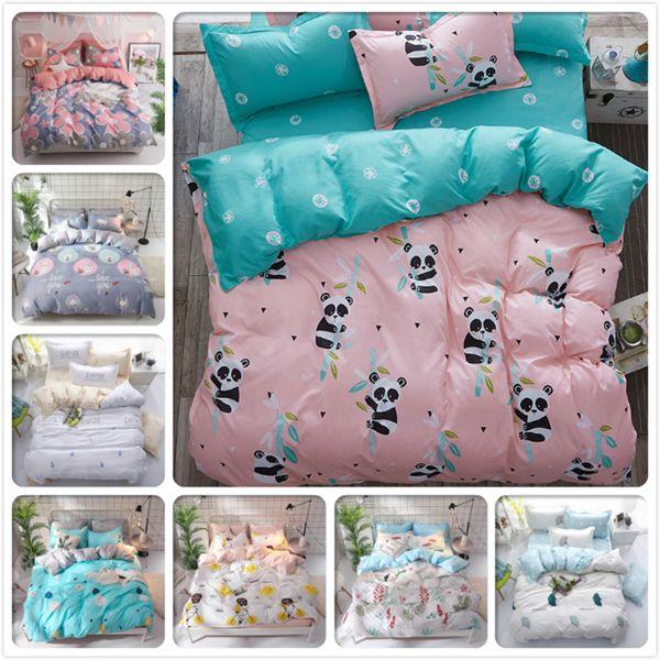 Panda Pattern copripiumino 3pcs / 4pcs set biancheria da letto per bambini biancheria da letto in cotone morbido 150x200 1.2 m 1.35 m 1.5 m 1.8 m singolo Twin Queen Size