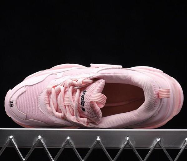 Nouveau luxe de haute qualité triple S designer bas rose papa combinaison unique semelle chaussures de mode pour hommes et femmes q27ize 36-45