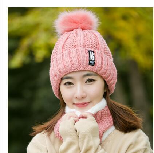 pink Hat bib set
