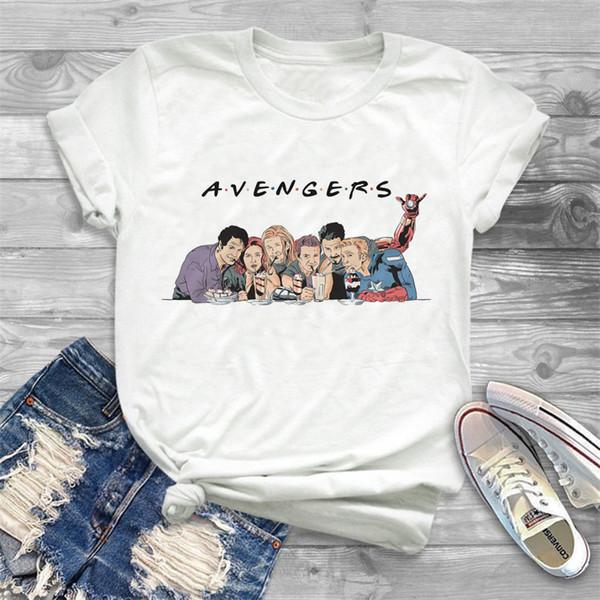 Mais recente 2019 Camisa do verão T Mulheres Vingadores Superheroes shirt Amigos Ladies Fit shirt mulheres jogo engraçado End gráfico camiseta topos