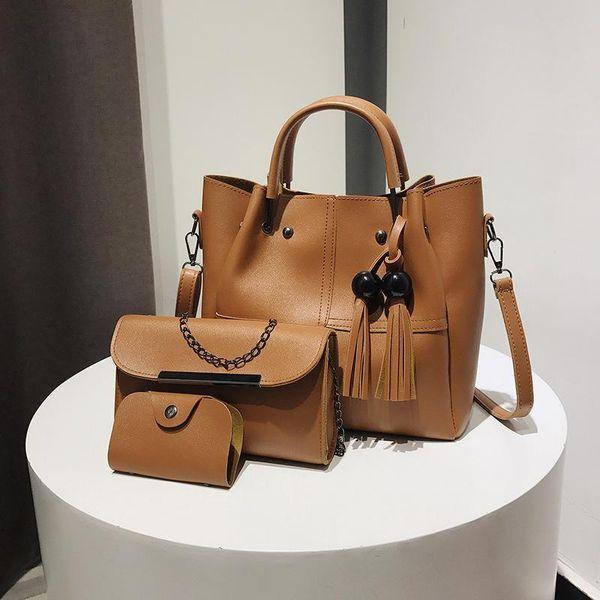 DALFR 2pcs Leather Handbags Women Shoulder Bags Casual Tote Bags Women Bolsa Nice Crossbody For
