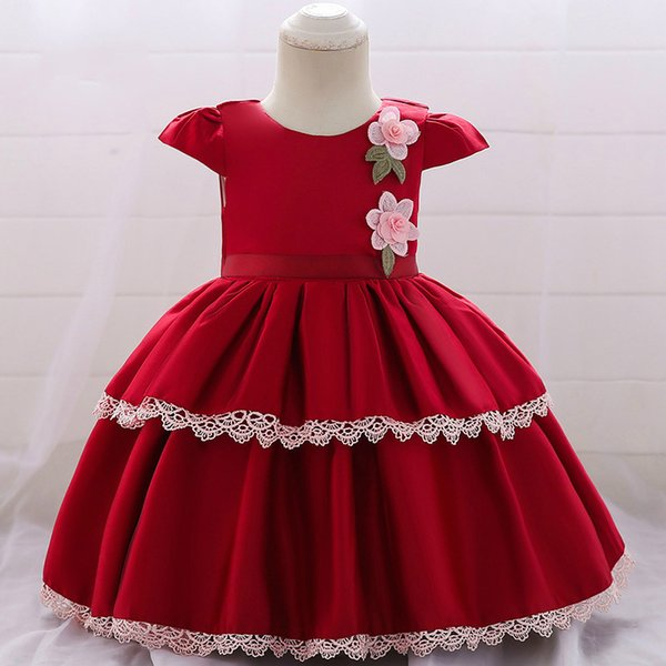 MQATZ Baby Dress Satin Lace Dresses 0-2T Infant Girl Birthday Party Tutu Girls First Communion Dresses Girl Kids Party Wear