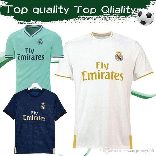 2020 Real Madrid Futbol Formaları # 7 TEHLİKE # 11 BALE 19/20 Madrid İç Saha Futbol Formaları # 20 ASENSIO # 22 ISCO Deplasman 3. Futbol formaları