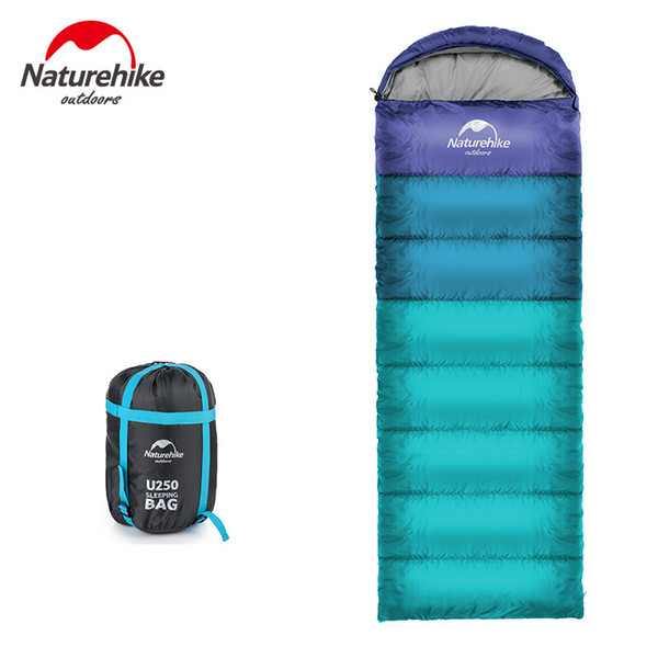 Naturehike Spring and Autumn Camping Sleeping Bag Soft Sleeping Bags Envelope Spliced Left Right Splicing Single Blue Orange C18112601