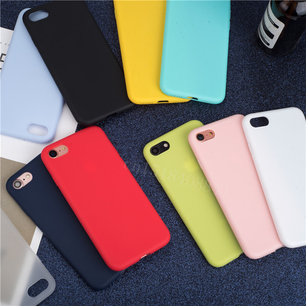 Soft Back Matte Color Cases for iPhone 7 plus 8 6 6s X XS max XR Case Shockproof TPU Silicone Back Cover Capa