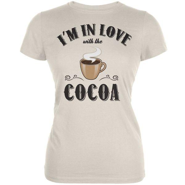 В любви с кремом какао юниоров мягкая футболка 3 мужские женщины унисекс мода футболка бесплатная доставка забавный прохладный топ футболка черный