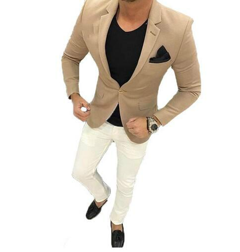 New brand 2019 Men Business Suits Slim fit Classic Male Suits Blazers Luxury Suit Men One Buttons 2 Pieces(Suit jacket+pants) CY013
