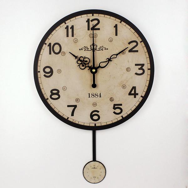 Post-1900 Nostalgia Clock Vintage Clock Home Sweet Home English Clock Black Wall Clock Antiques