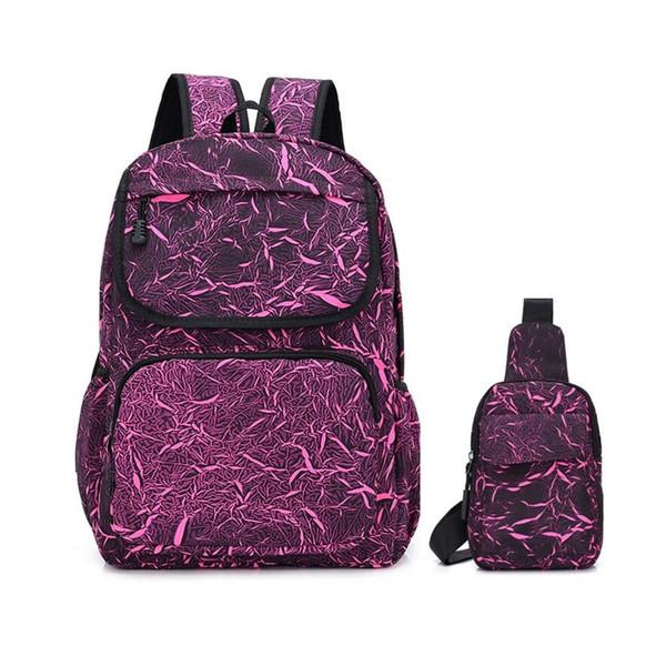 OKKID purple school bags for girls laptop bag 13.3 women shoulder bag kids school backpack girls student book dropshipping