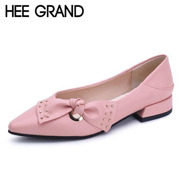 Designer de sapatos de salto Hee grand mulheres de couro de patente doce Oxfords para a plataforma de ponta do dedo do pé apontado bombas de salto baixo Brogue mulher XWD6447