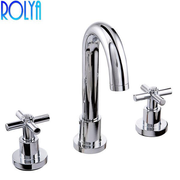 2019 Classic Dual Handles 8 Inch Lavatory Widespread Faucet Bathroom Sink Mixer Taps From Wuzhongtin 222 67 Dhgate Com