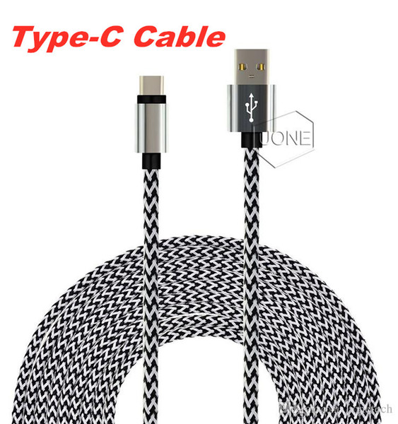 Type C Cable Nylon Braided USB 3.1 to USB 2.0 A Male Data Charging Cable Reversible Connector Charger Cord for Samsung S8 S7 Moto LG G5