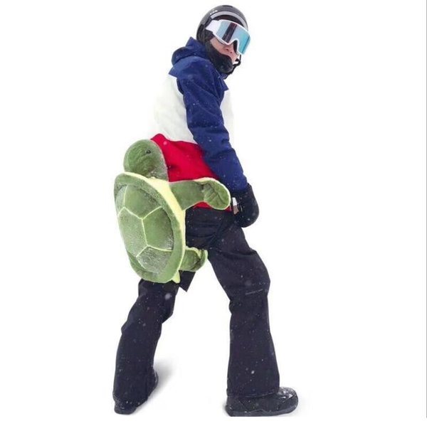 Adult anti-fall skiing protective gear small turtle children hip knee pads male small green turtle ski equipment