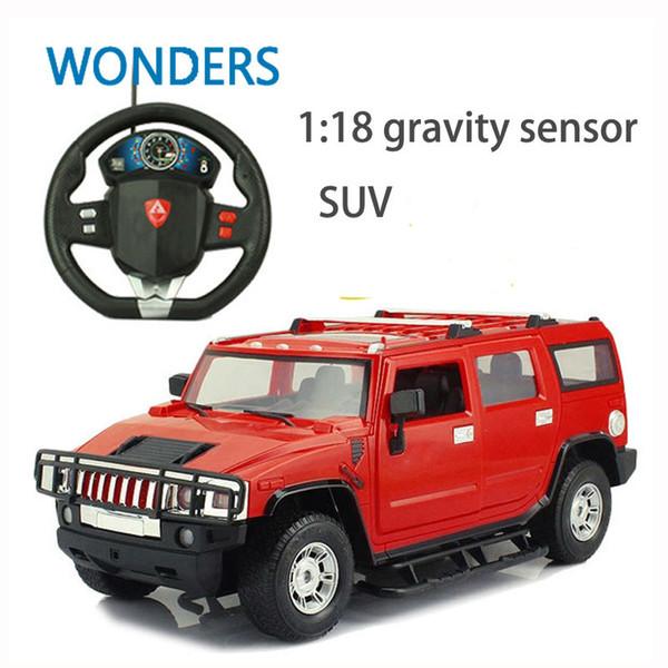 Prix le plus bas 2017 1: 18 Nouveau cadeau Grand Volant électrique Jouet RC Suv voiture télécommande automobile Jouets haute vitesse Modèle