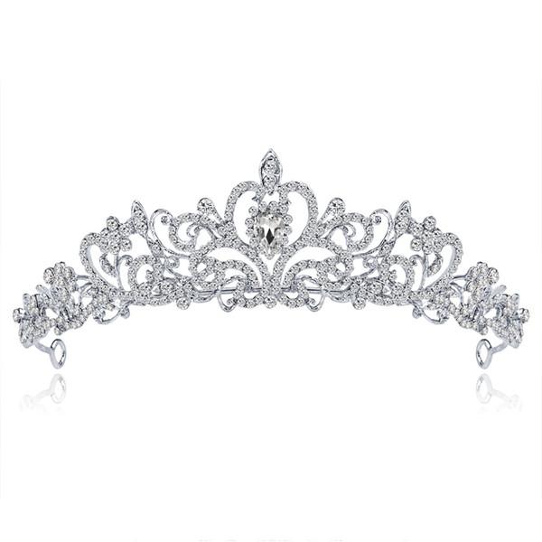 Europe and the United States high-end bridal tiara crown Princess tiara alloy rhinestone wedding dress big crown wholesale