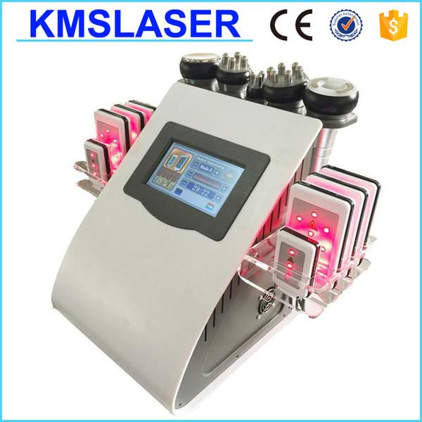 Painless 8 Pads Diode Lipo Laser LLLT Ultrasonic 40K Cavitation Slimming Vacuum RF Cellulite Weight Loss Machine