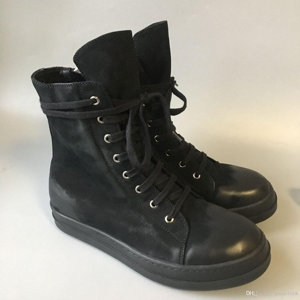 Factory outlet genuine leather high-end new fashion wild side first layer of wax cow leather boots persional men's fashion leader half boot
