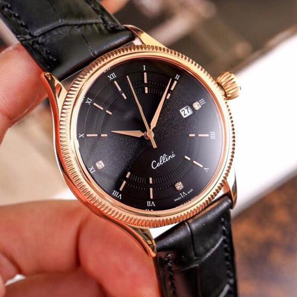 Luxury new luxury de igner men cellini round watch fully automatic mechanical movement men lei ure watche full automatic mechanica