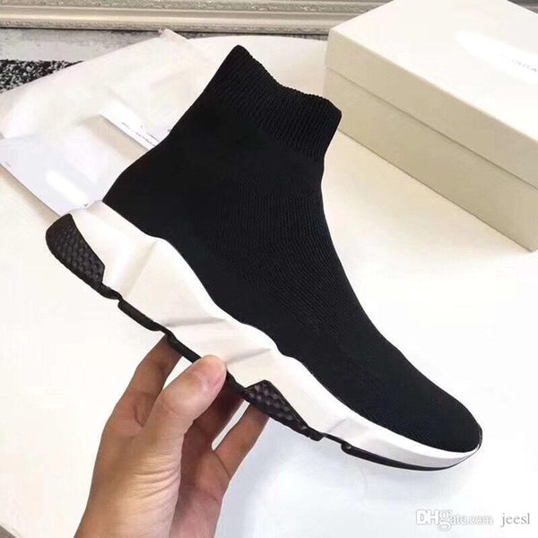 Casual Shoes Designer Sneakers Speed Trainer Runner Black Red Top Quality Triple Black Fashion Flat Socks Boots Size 35-45
