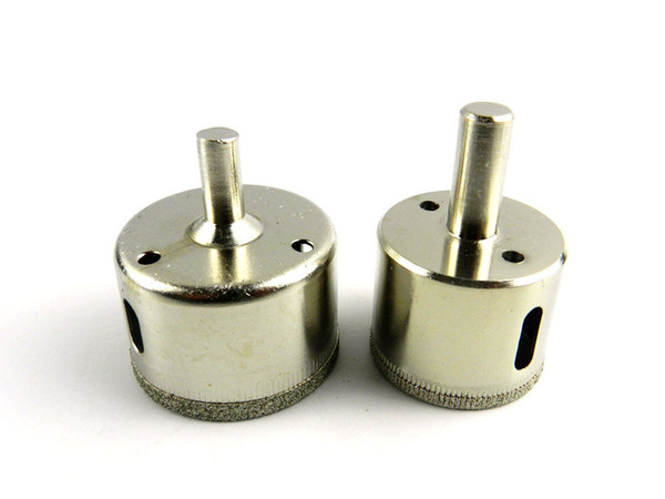 Freeshipping Useful 2pcs/Lot*10 38mm&45mm Glass Perforator Diamond Coated Marble Ceramic Tile Hole Saw Drill Bit set tool