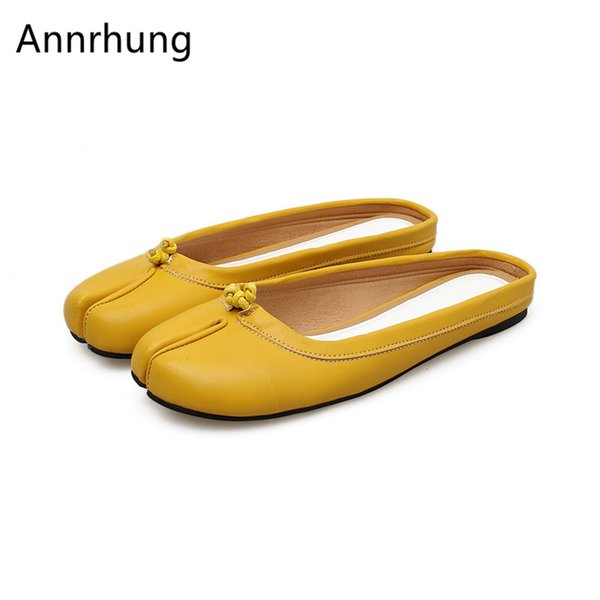 Candy Color Cover Toe Flip Flops Women Unique Split Toe Slingback Summer Lazy-man Shoes Casual Flat Slippers De Mujer