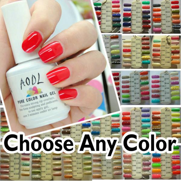 best selling 227 Colors Available! 4x Soak-Off UV LED Nail Gel Polish + 1x Top Coat + 1x Base Caot Primer Acrylic Nail Art Pure & Glitter Color Gel AODL