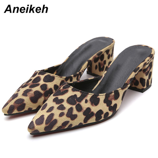 f8f4abac3a5 Dress Aneikeh New 2019 Summer Leopard Print Women'S Shoes Sexy Pointed Toe  Slingback Pumps Stiletto Heels Slip On Dress Ladies Shoes High Heel Shoes  ...