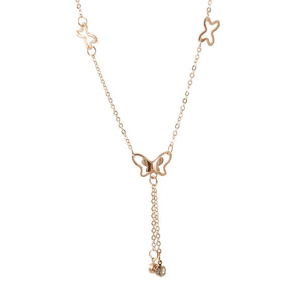 Temperament butterfly single drill tassel anklet female Korean fashion accessories wholesale K3463