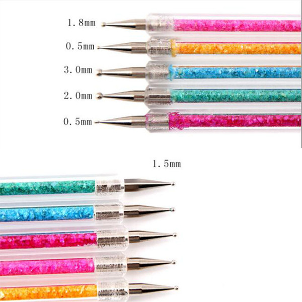 eedle Arts Craft Diamond Painting Cross Stitch 5 pcs/sets double head point flower needle drill pen nail tool Painting Carving Brush Dott...