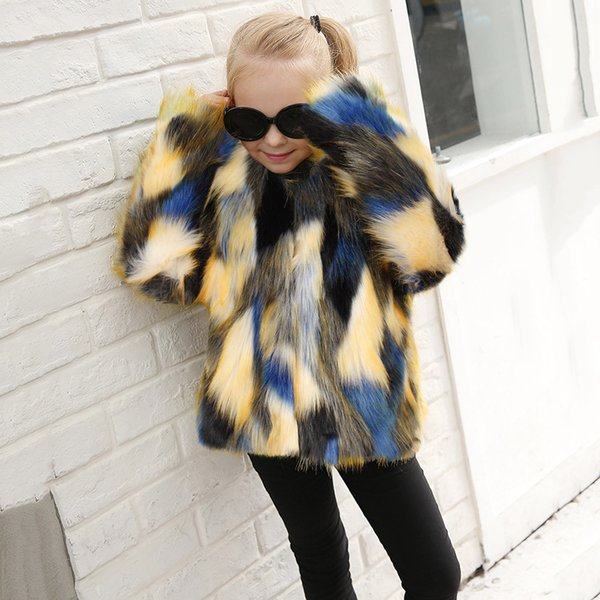 2019 New Arrival Toddler Kids Baby Girl Winter Warm Clothes Faux Fur Thick Solid Coat Outwear11.28