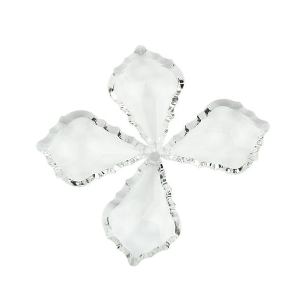 Chiaro 76mm 10PCS cristallo acero foglia lampadario pendente famiglia bagno lampadario raccordi vendere come le torte calde