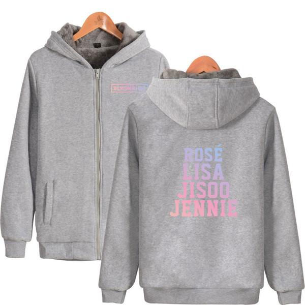 Frdun 2018 New BLACK PINK hot Team Thicken cotton Zipper Parkas Oversize Hoodies Winter Men/Women Kpop Warm Fashion Parkas