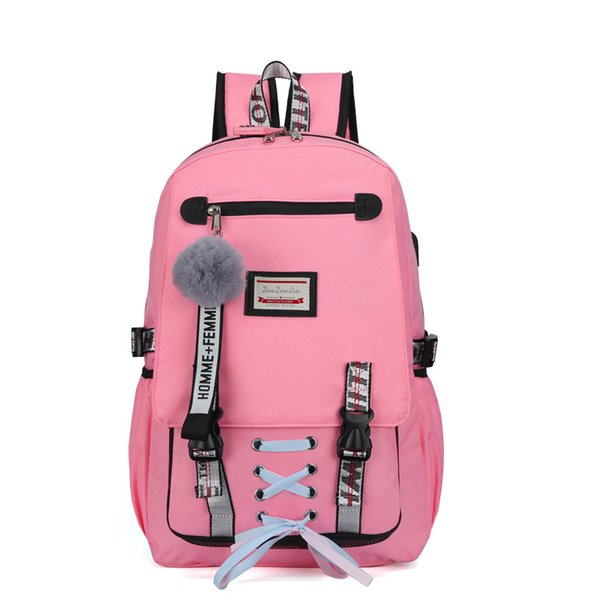 Backpacks School Bags For Teenagers Girls Student Women Larger Capacity Anti-theft USB Backpack Rucksack Female Travel Book Bags LY191203