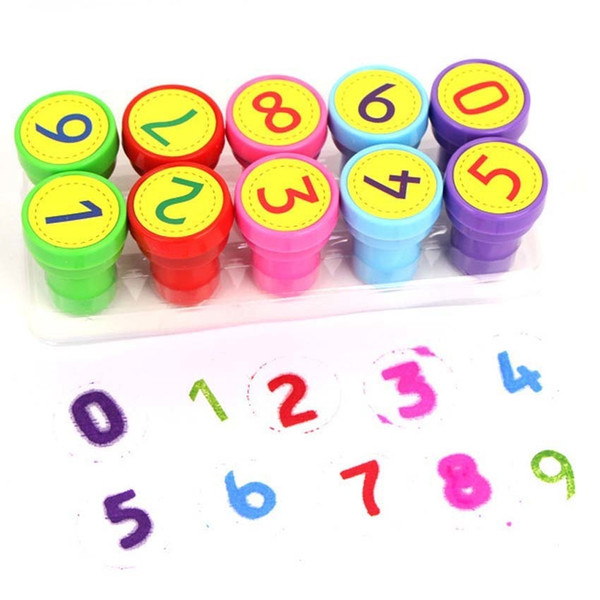 Kids Numbers Toy Stamp Free Combination Diy Crafts Plastic Seal Scrapbooking Supplies Self Inking Stamps Kids Arithmetic Tools