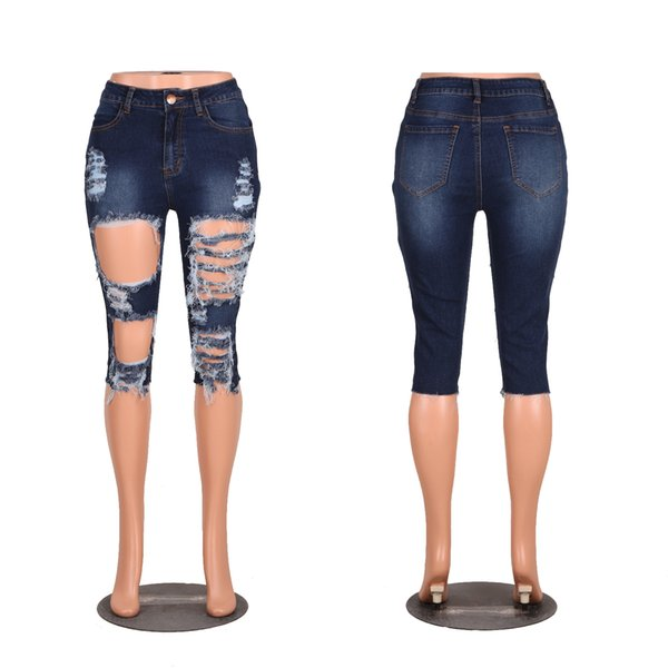 Wholesale Women jeans High Strength Water washed skinny jeans Ladies fashion New Style Leisure Bottom Jeans 183#