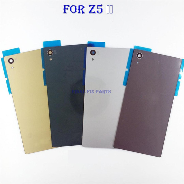 Original Rear Battery Cover Housing Door For Sony Xperia Z5 Back Cover Chassis With NFC + Camera Lens + Adhesive Repair