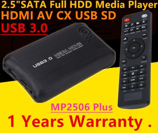 Yeni Autoplay USB 3.0 2.5 inç SATA Full HD 1080 P Medya Oynatıcı Ile HDMI / AV / USB / SD / MMC Multimedya Video Reklam oyuncu