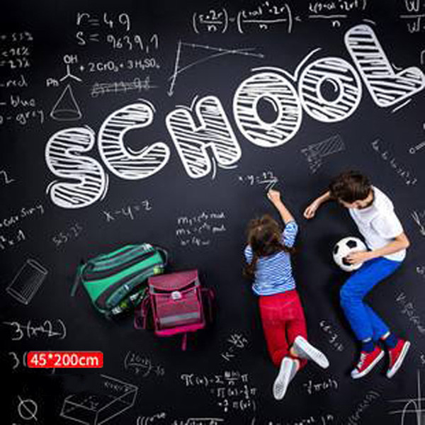 best selling Removable Chalkboard Wall Stickers Blackboard Extra Large Decal Wall Sticker Peel and Stick Vinyl PVC With Chalks Mini Portable VT0206