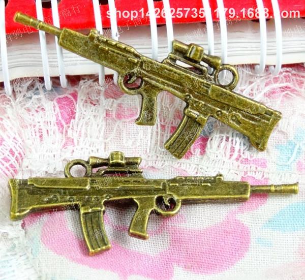 40pcs 45 * 18mm bronzo antico moda tibetano macchina mitragliatrice per il braccialetto vintage metallo pendenti orecchino fatto a mano gioielli fai da te