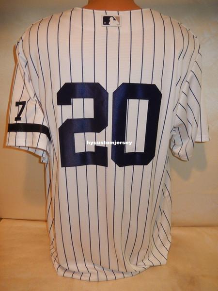 Дешевые обычай Нью-Йорк # 20 1995 JORGE POSADA Sewn COOL BASE Бейсбол Джерси NEW XL Мужские сшитые майки большой и высокий размер XS-6XL на продажу
