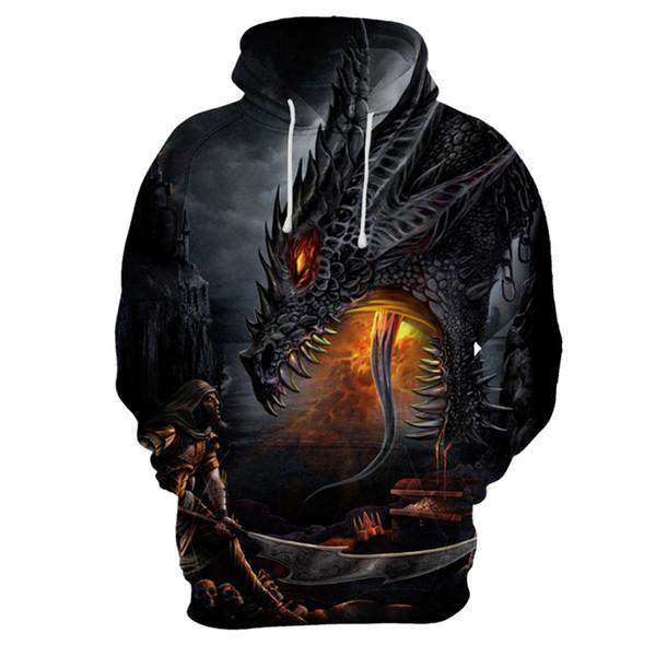 Custom Unisex Sweatshirt 3D Skull Printed Pullovers Hoodies Dropship personality streetwear