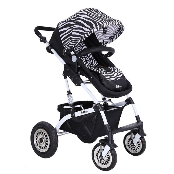 2 공압 휠이 EVA 바퀴와 좋은 충격 흡수 디럭스 유모차, 높은 의자,