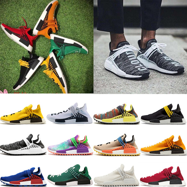Fashion Human Race pharrell williams exuberant quality soft wearing sense sundry colors PASSION Peace Youth BBC mens womens running shoes